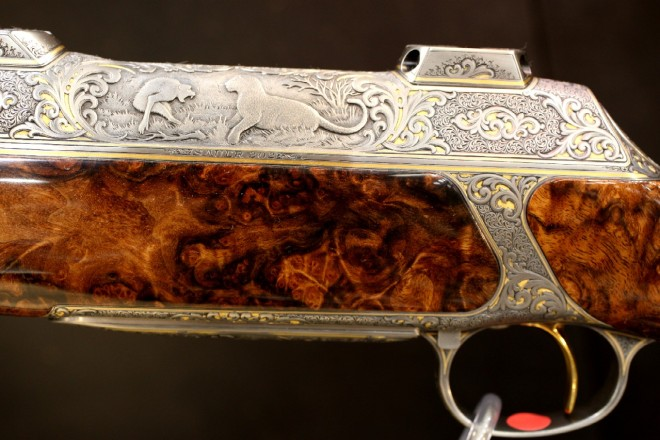 SAUER 202 engraving close up