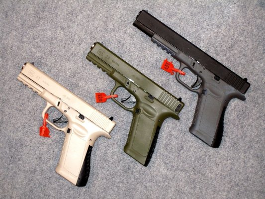 CCF special alloy frames for GLOCK pistols